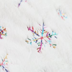 90cm White Flannel Embroidered Snowflake Christmas Tree Skirt Christmas New Year Home Decorations