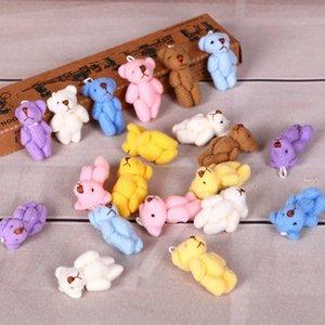 Мини 6 Цветов Kawaii Гигантский Медведь Плюшевые Фаршированные ИГРУШКИ КУКЛА Украшения Ткани Аксессуары Для Волос Плюшевые игрушки куклы Оптовая