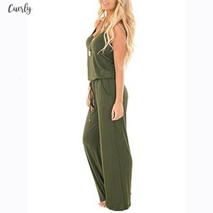 Rompers Womens Jumpsuit Sleeveless Jumpsuit Ladies Casual Loose Playsuit Long Solid Trousers Body Femme Sexy Jumpsuit Drop Shipping