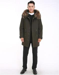 Jackets Fashion Otter Rabbit Fur Liner Racoon Hair Hat Thickened Warm Coat Mens Parkas Winter Mens Parka