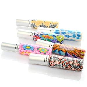 10 ml botella de perfume del aerosol de la muestra de múltiples funciones colorido impreso floral universal de viaje recargable vacío portátil fina niebla bomba atomizan
