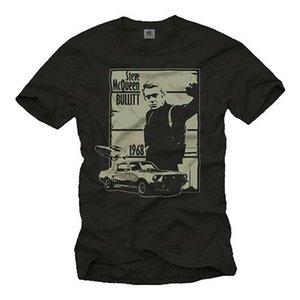 US Muscle Car Herren T-Shirt mit 1967 - Mnner MC Bullit Reine T-shirt