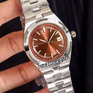 New Overseas 4500V / 110A-B146 Caja de acero Marrón Dial A2813 Reloj automático para hombre Pulsera de acero inoxidable Relojes Timezonewatch E13c3 baratos
