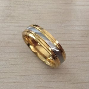 2020 high quality men boy 24k gold silver plated 316L Stainless Steel ring wedding Ring for Women girls Lovers wholesale