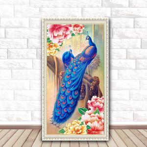 DIY-Pfau-Diamant Malerei 5D Tierhauptdekoration Diamant-Stickerei-Kreuz-Stich-Geschenk für Freunde DH0339