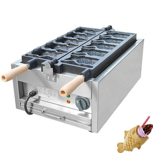 Qihang_top Elektrikli Dondurma Taiyaki Makinesi / Ağız Açma Balık Kek Yapma Makinası / Taiyaki Satılık Makinası