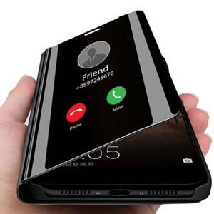 Смарт зеркало кожаный чехол для iphone 11 Pro Max Case для iphone 11 роскошный прозрачный чехол для телефона iphone 11 Pro