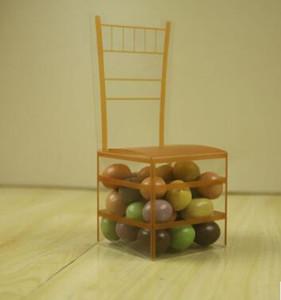 Золотой стул ПВХ прозрачные коробки Фавор Подарочная коробка Свадебные Box Baby Shower коробки благосклонности венчания и подарки
