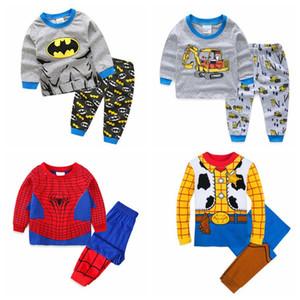 Hot Sale Baby Clothes Set Children boys girls kids Clothing Sets Cartoon Sports suits 2 pcs sleepwear long sleeve pajamas