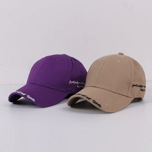 Hat women female spring and summer Korean alphabet embroidery peak cap casual wild baseball cap student sun visor men snapback