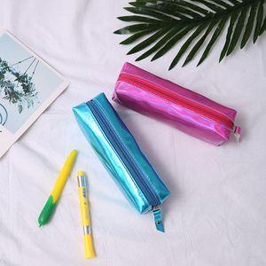 Hot Sale Cute Pencil Shiny Pen Case Cosmetic Makeup Bag Storage Pouch Purse For School