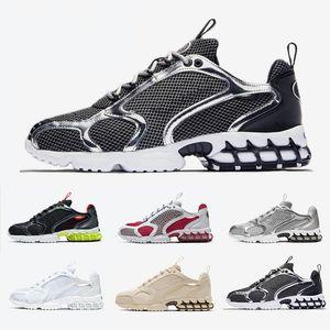 Nike Air Zoom Spiridon Caged Stock X Stussy X Spiridon Caged Mens running shoes Lemon Venom Cardinal Red Metallic Silver Pure Platinum men women sports designer sneakers