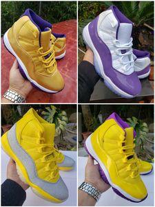 2020 New Mamba 11 XI Weiß Bred Metallic Silber Lila Lakers Herren-Basketball-Schuhe 11s 24 8 Designer Sport-Turnschuhe Trainer Schuhe 40-47