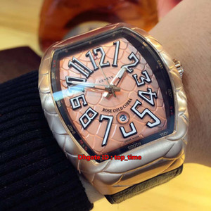 5 style New Saratoge Vanguard Rose Gold Miyota 8215 Automatic Mens Watch V 45 SC DT GOLD COBRA Leather&Rubber Strap Gents Sport Watches