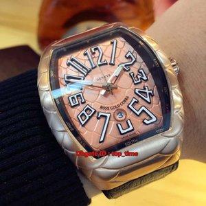 5 estilo Nuevo Saratoge Vanguard Rose Gold Miyota 8215 reloj automático para hombre V 45 SC DT GOLD COBRA Correa de cuero para hombres Relojes deportivos