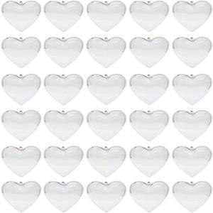 Очистить пластиковые украшения шары в форме сердца Рождественская елка Болл Fillable блесна открываемой Прозрачный шар для рождественских украшений венчания