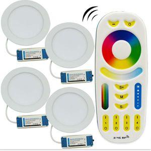 12W Milight panel llevada regulable LED Downlight AC85-265V RGB + CCT habitación cubierta de cocina Iluminación + 2.4G RF control remoto