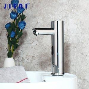 Mezclador de agua jieni cromo pulido grifo automático del sensor Baño Cuenca grifo del fregadero caliente fría Toque Touch Sense