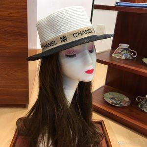 Mulher de palha fora oco chapéus dobráveis chapéu de sol cúpula com balde bowknot chapéus de alta qualidade sunbonnets brin largos chapéus