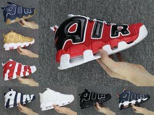 Новая дешевая женская мужская баскетбольная обувь Uptempo, высококачественные трехцветные кроссовки Scottie Pippen PE Triple White Athletic Sport Sneakers US5. 5-13