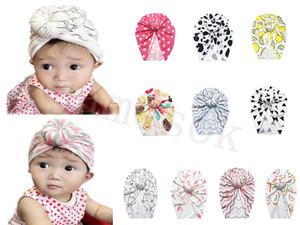 10 أنماط دونات العمامة قبعة الاطفال الطفل الرضع العمامة القبعات الطفل عقال bowknot في الهواء الطلق قبعات الاطفال هدية DC930