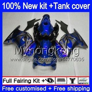 + Réservoir pour KAWASAKI EX250 ZX250R 2008 2009 2010 2011 2012 201MY.66 gris bleu EX250 ZX 250R EX 250 ZX250R EX250R 08 09 10 11 12 Carénage