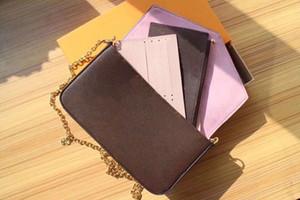 Mit Gift Box 29 Styles 3-Set POCHETTE FÉLICIE Series Designer Kette Taschen M62467 M64065 M61267 M62982 M62145 N60235