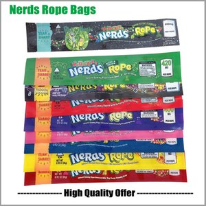 Nerds corda sacos 9 tipos exóticos 420 infundido Gummies 710 Edibles embalagem longa Três Edge-selagem do saco à prova de cheiros doce Food pacote de saco