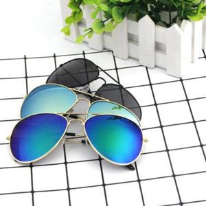 Revestimiento de color de alto grado Sunglass Mujeres Sun Shading Refugio Viento Rana Espejo Hombres Reflexivo Decorar Gafas de sol Gafas de sol clásicas