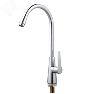 Plating Wash Wash Faucet Zinc Alloy Kitchen Single Cold Water Single Hole Faucet Accesorios de baño Montado en la cubierta