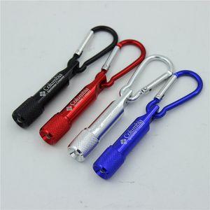 Mini piccolo LED moschettone torcia elettrica della catena chiave della clip l'escursione di campeggio Glare mini torcia elettrica principale DBC VT0215