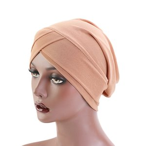 New Simple Women Solid Hat Slouchy Baggy Head Cap Chemo Beanie Cancer Hat Ladies Turban Women Hair Accessories Wholesale