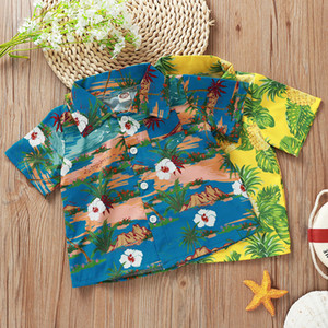 kids clothes boys Summer style beach T-shirts children Pineapple coconut tree Flowers print Tops 2020 baby Clothing Tees Z0524