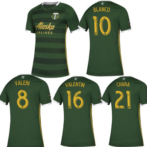 2019 PORTLAND TIMBERS home green maillots de football 19 20 PORTLAND TIMBERS shirt personnalisé BLANCO VALERI football uniformes chemises 2020