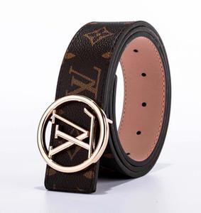 2019 Cinturón de mujer de estilo principal 3.8 ancho con hebilla alfabeto imagen real 100cm-125cm no con caja