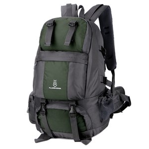 50L Outdoor Sport Travel Daypack Bag with Shoe Compartment for Climbing Camping Mountaineering Hiking Backpack Waterproof