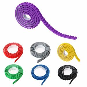 100CM Dots Plastic Loops Blocchi Giocattolo Adesivo Nastro di plastica Per bambini adulti DIY Building Blocks Base Plate Sticky Backing Tape
