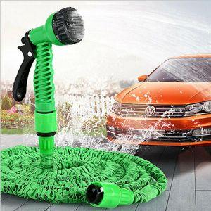 100FT Extensible Magic Garden Flexible Tuyau d'eau pour la voiture tuyau d'arrosage tuyaux Tuyaux en plastique ensemble à l'arrosage avec Pistolet de T1I1820