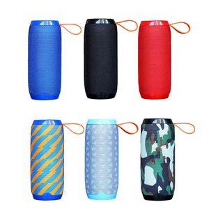 TG106 Bluetooth Outdoor Speaker Portable Wireless Column Loudspeaker Box Soundbar Black Red Blue Outdoor Sports Music Play TG Series Speaker
