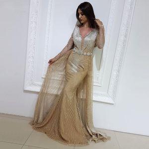 manga larga vestidos de noche de cristal celebridad vestido formal de la chispa de las lentejuelas de oro Elegantes vestidos de fiesta vestidos de noche Formales 2019 ogstuff