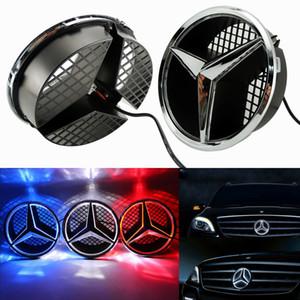 Iluminado LED Front Light Grille Estrela do emblema do emblema de 06-13 classe Mercedes Benz W204 GLK C W245 Espelho