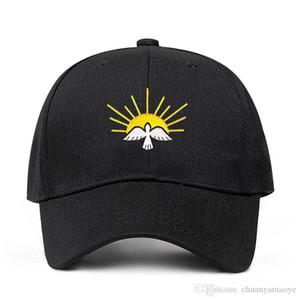Dropshipping New Sun Peace Dove Embroidery dad hat Men Women 100% Cotton Summer Fashion Baseball Cap Adjustable Hat 2020