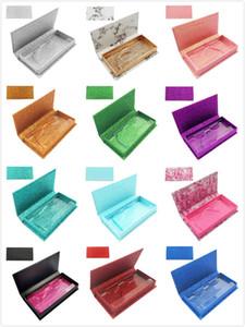 12 Colors Rectangle false eyelash packing box fine mounted eyelash gift box 3D mink eyelashes packaging boxes DHL Free Shipping