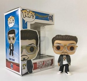 Funko POP Örümcek-Adam Homecoming Kutusu ile Tony Stark Vinil Action Figure # 226Toy Hediye Bebek