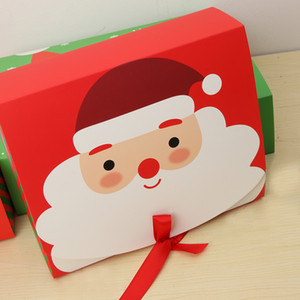 La víspera de Navidad Caja de regalo del favor del regalo de embalaje actuales bolsa de las cajas del caramelo del partido de Navidad Material de embalaje de regalo de Navidad