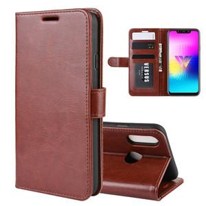 Pour Huawei MATE 30 LITE PRO LG W10 Crazy Horse flip portefeuille en cuir R64 Mad Photo Frame Support TPU carte d'identité de l'argent peau Couverture 5pcs Mode