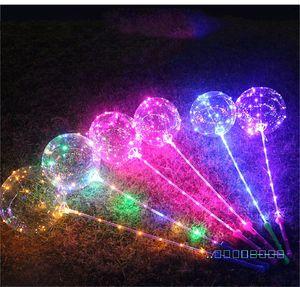 LED Bobo sfera luci lampeggianti palle con manico del bastone di 3M String Palloncini per Natale compleanno di cerimonia nuziale del partito della casa Decoration DHL