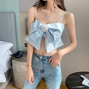 High Quality 2020 Camis Self Tie Female Sexy Camisole Summer Tank Ladies