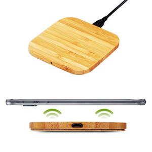 Qi Wireless Charger Slim Wood Charging Pad Fast charging For iPhone9 SAMSUNG