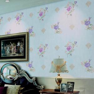 Kore romantik çiçek Duvar Kağıdı 3d stereo pvc su geçirmez duvar kağıdı yatak odası oturma odası sıcak pastoral tarzı ev dekoratif duvar